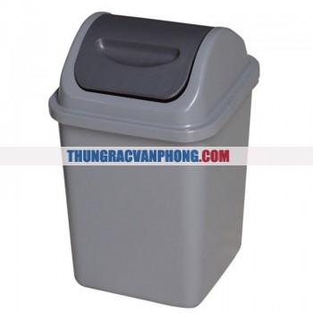 Thùng đựng rác nhựa HDPE nắp bập bênh AF07026