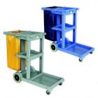 Xe đẩy dọn vệ sinh 3 tầng bằng nhựa AF08160