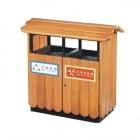 Thùng rác gỗ ngoài trời 2 ngăn