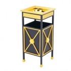 Thùng đựng rác bằng thép mạ vàng có gạt tàn thuốc TLJA22