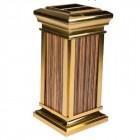 Cung cấp thùng rác inox mạ vàng giả gỗ giá thành tốt nhất toàn quốc