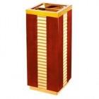 Thùng rác bằng gỗ có gạt tàn thuốc cao cấp TLJA70