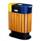 Thùng rác ngoài trời 2 ngăn phân loại rác thải TLJA78E