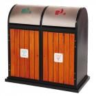 Thùng rác ngoài trời 2 ngăn phân loại rác thải TLJA78O