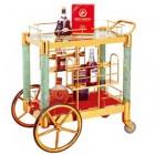 Xe đẩy tủ trưng bầy rượu xịn cao cấp WY-36