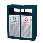 Thùng đựng rác ngoài trời 2 ngăn phân loại rác thải A-37W